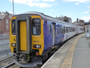 Rail NDE 579 ATNorthern 156463 1205 Hartlepool-Darlington